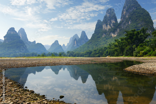 Tuinposter Guilin view of yulong river ,near xingping ,china