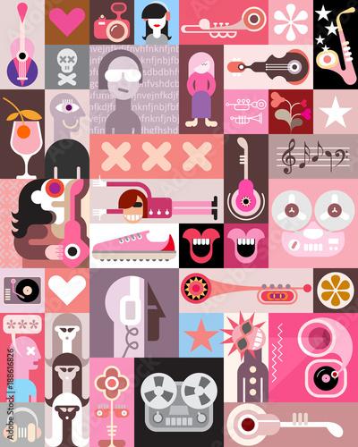 Fotobehang Abstractie Art Music Art Design
