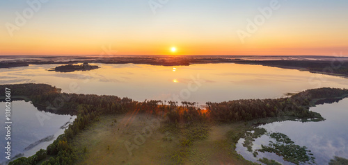 Keuken foto achterwand Natuur Belarusian lake