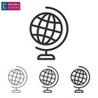 Globe line vector icon. Editable stroke.