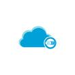 Cloud computing icon, wifi icon