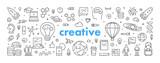 Modern linear web concept for creative - 188656257