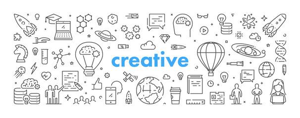 Modern linear web concept for creative © karpenko_ilia