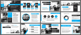 Blue and white element for slide infographic on background. Presentation template. Use for business annual report, flyer, corporate marketing, leaflet, advertising, brochure, modern style. - 188657049