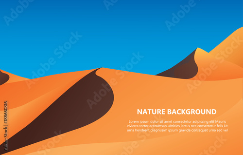Foto op Aluminium Blauw desert background with text space vector illustration