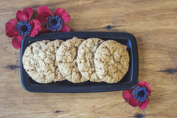 Australian cookies Anzac with Anzac DAy so we do not forget the message about the dark forest and slide.