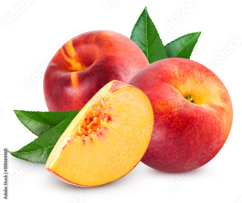 Foto Murales Peach fruit slice