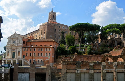 The ruins of ancient Rome.Italy - 188665226