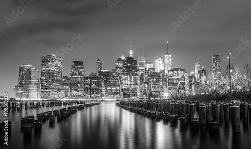 Foto op Plexiglas New York TAXI New York City Skyline