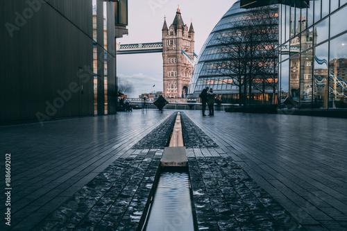 Staande foto London London and Tower Bridge