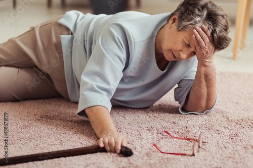 Sick senior woman with headache - 188671879