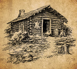 Old cabin - vintage engraving illustration - 188673863