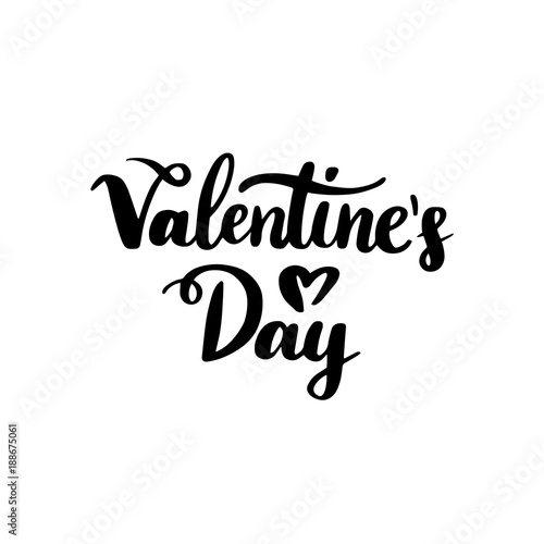Valentines Day Handwritten Lettering Poster
