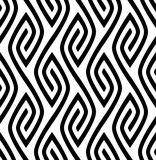 Vector seamless texture. Modern abstract background. Repeating monochrome pattern with figures of curved lines. - 188678643