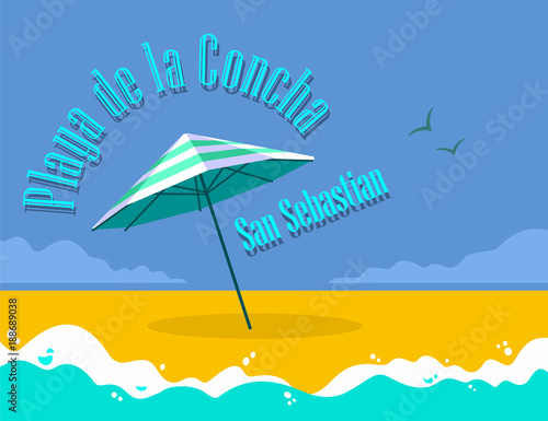 Poster Playa de la Concha - San Sebastian