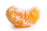 A segment of mandarin isolated on white.
