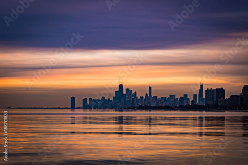Poster Chicago Chicago Sunrise