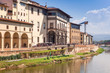 Quadro Quay of the Arno River and the Uffizi Gallery in Florence