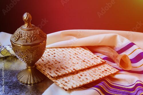 Plakát passover jewish matzoh bread holiday matzoth celebration