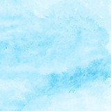 bright blue watercolor texture background, hand painted - 188709675