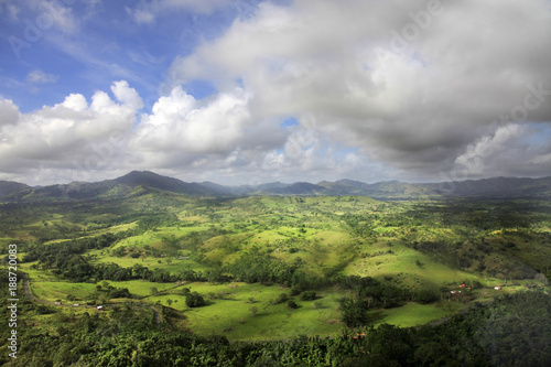 Aerial view of Cordilleras. Dominican Republic