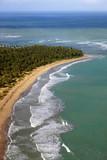 Aerial view of tropical island beach, Dominican Republic - 188720207