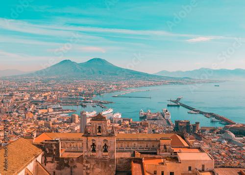 Deurstickers Napels Golfo di Napoli
