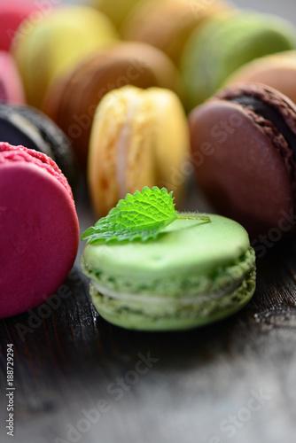 Foto op Aluminium Macarons Macarons Minze