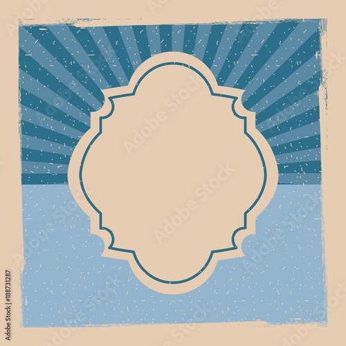 vintage design template with label stripes banner vector illustration