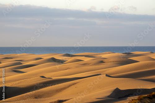 Deurstickers Canarische Eilanden Maspalomas dunes