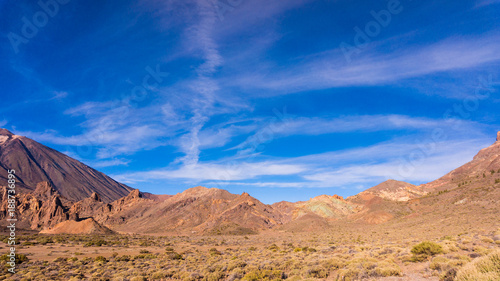 Tuinposter Canarische Eilanden landscape with mount Teide in Teide National Park - Tenerife, Canary Islands