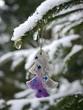 different christmas decoration hanging  tree snow