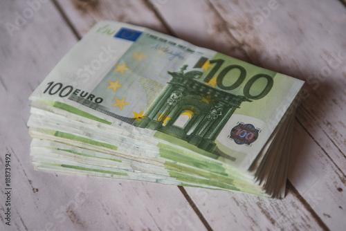 Money concept - one hundred euro bills