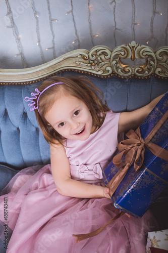 A little girl got her birthday gift