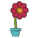 Flower in pot symbol icon vector illustration graphic design