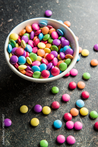 Foto Murales Colorful chocolate candies.
