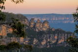Three Sisters in Katoomba Blue Mountains at sunset