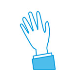 Hand with palm open icon vector illustration graphic design - 188780606