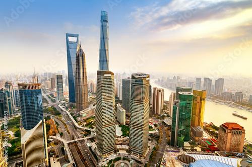 Foto op Canvas Shanghai Skyscraper in Shanghai, China
