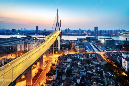 Yangpu Bridge in Shanghai, China