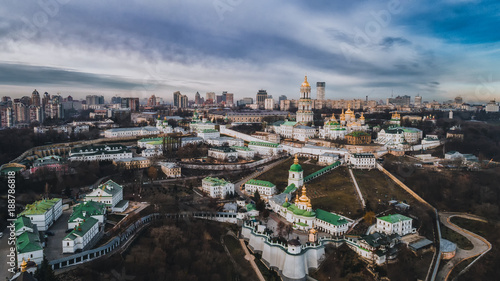 Fridge magnet The Kiev Lavra from the height
