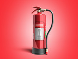 Fire extinguisher inspection record 3d render on red background - 188789452
