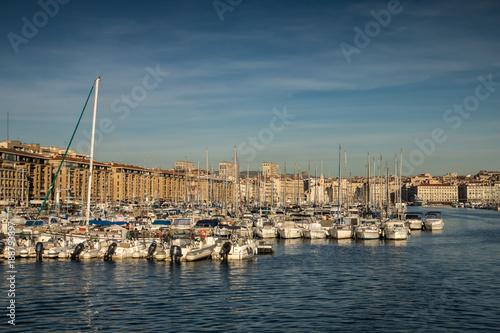 Poster Vieux Port de Marseille , France , Boûches du Rhône