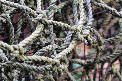 Fotobehang Schip old rope texture