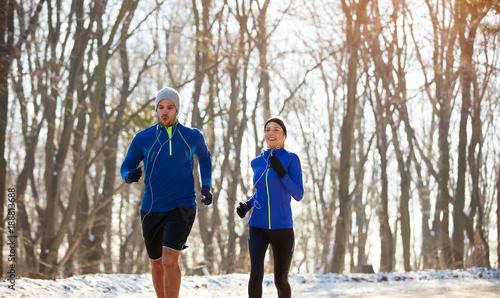 Fotobehang Hardlopen Jogging in nature