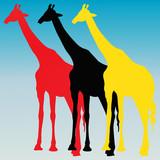 Girafes pop art - 188836268