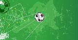 Soccer design template w.  soccer ball, vector, copy space