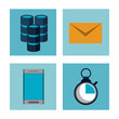 Big data technology icons icon vector illustration graphic design