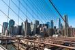 New York City skyline view from Brooklyn Bridge