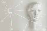 Artificial intelligence concept - Internet, network, globalization - 188850043